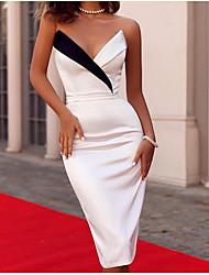 cheap -Women's Bodycon Dress White M L XL