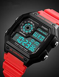 Недорогие -SKMEI Муж. Нарядные часы Кварцевый силиконовый Черный / Красный / Зеленый 50 m Защита от влаги Календарь Секундомер Цифровой На каждый день На открытом воздухе - Красный Синий Светло-Зеленый