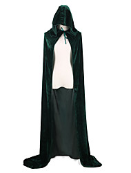 cheap -Witch Vampire Cosplay Costume Cloak Party Costume Costume Cape Adults' Men's Cover Up Halloween Christmas Halloween Carnival Festival / Holiday Satin Velvet Red / Blue / Dark Green Carnival Costumes