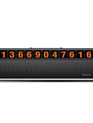 cheap -Baseus Press Hidden Type Car Temporary Parking Phone Number Card ABS Car Decoration Plate