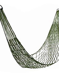 cheap -Camping Hammock Outdoor Nylon Fiber Nylon for 1 person Hiking Travel Army Green 200*80 cm