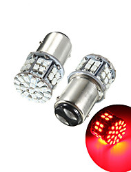 cheap -Pack of 2 Super Bright BAY15D 1157 50SMD 1206 LED Car Brake Light DC 12V 50 LEDs Auto Rear Tail Lights Red Turn Signal Lamps Bulb