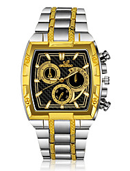 cheap -Men's Dress Watch Quartz Formal Style Stainless Steel Silver / Gold Casual Watch Analog Fashion - Gold / Silver One Year Battery Life