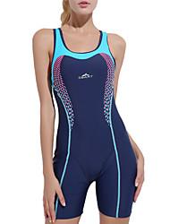cheap -Women's One Piece Swimsuit Patchwork Bodysuit Swimwear Blue Chlorine resistance Comfortable Sports Sleeveless - Swimming Spring, Fall, Winter, Summer / Spandex / Nylon