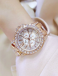 cheap -BS Luxury Ladies Steel Belt Watch Flash Drill Rhinestone Design Business Dress Watch