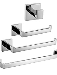 cheap -Bathroom Accessory Set New Design / Creative Contemporary / Modern Metal 4pcs - Bathroom Wall Mounted