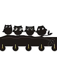 cheap -Night owl family wall hanger hook wild animal fur hook towel hook handbag key ring hanger hook frame