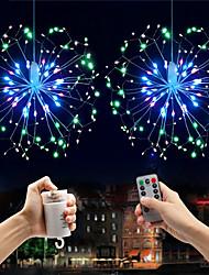 Недорогие -0.3m взрыв звезды фейерверк эффект светодиодные декоративные струнные огни 150 светодиодов smd 0603 1 13