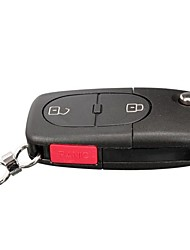cheap -2 Button  Panic Button Remote Key Fob Case Shell For Audi A4 Replacement
