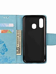 cheap -Phone Case For Samsung Galaxy A20e A7(2018) Embossed Magnetic Flip Full Body Cases Butterfly Hard leather for Galaxy A9(2018)/A30/A50/A40/A70/A6 2018/A8 Plus 2018/A3 2017/A5 2017