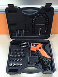 Недорогие -4.8 В набор электрических отверток зарядки бытовой пистолет типа двусторонняя вращающаяся пластиковая коробка мини комбинированный стояк