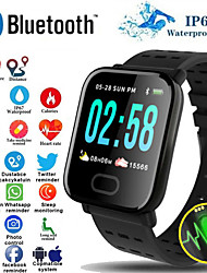 cheap -A6S Smart Watch Bluetooth Fitness Tracker Support Notify/ Heart Rate Monitor Sports Smartwatch Compatible Iphone/ Samsung/ Android Phones