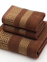 Недорогие -Высшее качество Полотенца для мытья, геометрический Чистый хлопок Ванная комната 2 pcs