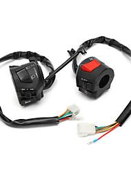 cheap -12V 7/8inch Motorcycle Handlebar Horn Turn Signal Headlight Control Start Switch