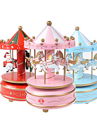 cheap -Tambourine Carousel Music Box Wooden Music Box Antique Music Box Cute Sound Unique Plastic Women's Unisex Girls' Kids Kid's Adults Baby 1 pcs Graduation Gifts Toy Gift