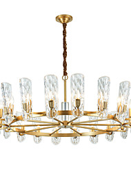 cheap -20 Bulbs ZHISHU 120 cm Crystal / New Design Chandelier Crystal Crystal / Empire Electroplated Artistic / Chic & Modern 110-120V / 220-240V