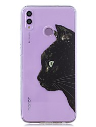 cheap -Case For Huawei Honor 8X / Huawei P Smart (2019) Pattern / Transparent Back Cover Black Cat Head Soft TPU for Mate20 Lite / Mate10 Lite / Y6 (2018) / P20 Lite / Nova 3i / P Smart / P20 Pro