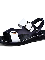 cheap -Men's Comfort Shoes Patent Leather Spring & Summer Casual Sandals Breathable White / Blue / White / Yellow / Outdoor