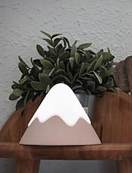 abordables -muid neige montagne lumière créative chambre contrôle du son de chevet led atmosphère de charge lumière réglable nuit lumière