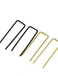 cheap -Women's Stud Earrings Earrings Earrings Jewelry Black / Gold / Silver For Graduation Daily Festival 1 Pair