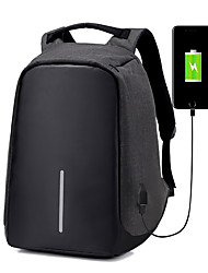 cheap -Large Capacity Cloth Zipper School Bag Color Block School Black / Gray / Purple / Men's / Fall & Winter