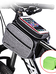 cheap -Wheel up Bike Frame Bag Top Tube 6 inch Waterproof Cycling for Cycling Dark Gray Mountain Bike / MTB Road Bike Outdoor Exercise