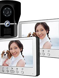 cheap -815FG12 Ultra-thin 7-inch wired video doorbell HD villa one for two video intercom outdoor unit night vision rain unlock function