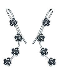 cheap -Women's Ear Cuff S925 Sterling Silver Earrings Jewelry Silver For Daily Festival 1 Pair