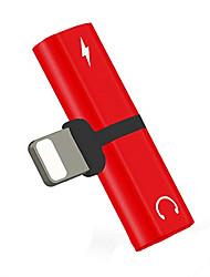 Недорогие -3 в 1 8-контактный адаптер для наушников конвертер для iphone 8/8 plus / x / 7 / 7plus