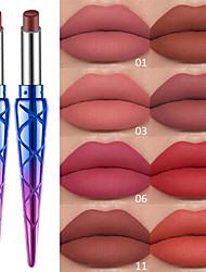 abordables -1 pcs 12 couleurs Maquillage Quotidien Imperméable / Portable / Lèvres Humide / Mat Etanche / Humidité / Longue Durée Décontracté / Quotidien / Mode Maquillage Cosmétique Accessoires de Toilettage