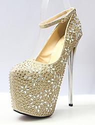 cheap -Women's Heels Stiletto Heel Closed Toe Sequin Synthetics British / Minimalism Fall / Spring & Summer Gold / Silver / Fuchsia / Wedding / Party & Evening