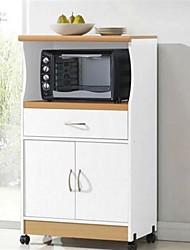 Недорогие -белый кухонный шкаф для микроволновой печи с колесиками