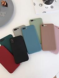 Недорогие -чехол для яблока iphone xr / iphone xs max матовая задняя крышка сплошная цветная мягкая тпу для iphone 6 / 6plus / 6s / 6splus / 7/8 / 7plus / 8plus / x / xs / xsmax / xr