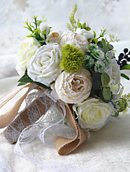 "cheap -Wedding Flowers Bouquets Wedding / Wedding Party Dried Flower / Lace / Polyester 11.8""(Approx.30cm)"