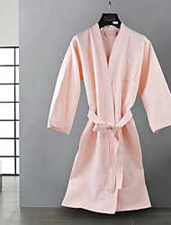 cheap -Superior Quality Bath Robe, Solid Colored 100% Polyester Bathroom 2 pcs