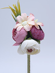 "cheap -Wedding Flowers Boutonnieres Wedding / Special Occasion Other Material 5.12""(Approx.13cm)"