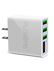 cheap -Floveme US Plug Quick Fast Charge 3 USB Ports LED Digital Display Support Phone/Table and Other Devices(White)