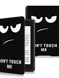 Недорогие -Кейс для Назначение Amazon Kindle Lite (2019) / Kindle PaperWhite 4 2018 Защита от удара / Флип / Ультратонкий Чехол Мультипликация Твердый Кожа PU
