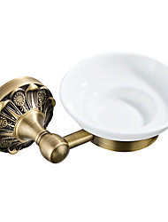 cheap -Soap Dishes & Holders New Design Antique / Country Brass / Ceramic 1pc - Bathroom / Hotel bath Wall Mounted