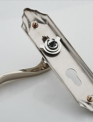 cheap -European interior wooden door lock stainless steel brushed nickel bedroom handle lock modern door lock handle lock