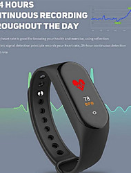 cheap -M4 Smart Bracelet Watch Heart Rate Blood Pressure Exercise Step Bluetooth Waterproof