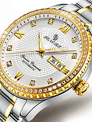 cheap -Men's Dress Watch Automatic self-winding Stylish Stainless Steel Silver / Gold 30 m Calendar / date / day Noctilucent Day Date Analog Elegant - Golden+Black Gold / Silver / White Gold / Silver / Black