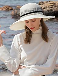 abordables -Polyester Chapeaux de paille avec Fleur 1pc Décontracté / Usage quotidien Casque