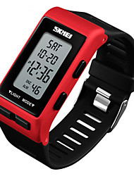 cheap -SKMEI Men's Digital Watch Japanese Digital Rubber Black / White / Red 30 m Water Resistant / Waterproof Chronograph New Design Digital Outdoor Fashion - Black Red Blue Two Years Battery Life