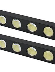 cheap -2PCS/Lot Universal Car DRL LED Daytime Running Light 12V 4LED Waterproof For Car Parking Fog Lamp Reverse Lights Turn signal