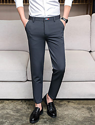 cheap -Men's Basic Suits / Chinos Pants - Solid Colored Black Navy Blue Gray 29 30 31