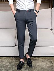abordables -Homme Basique Costume / Chino Pantalon - Couleur Pleine Noir Bleu Marine Gris 29 30 31