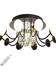 cheap -LED 40W Crystal Ceiling Light/ Novelty Modern Flush Mount Lamp Black White Painted for Living Room Bedroom / Warm White/White/ Dimmable With Remote Control