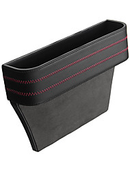 cheap -Universal Leather Car Seat Gap Storage Box Pocket Organizer Phone Holder with Coin Box