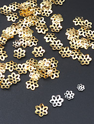 cheap -100pcs Jewelry Findings Alloy Flower Bead Caps Bracelet & Necklace DIY Tools For Making Earrings